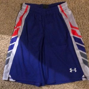 Under armour boys purple shorts